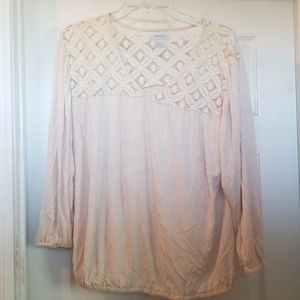 Cream long sleeve top
